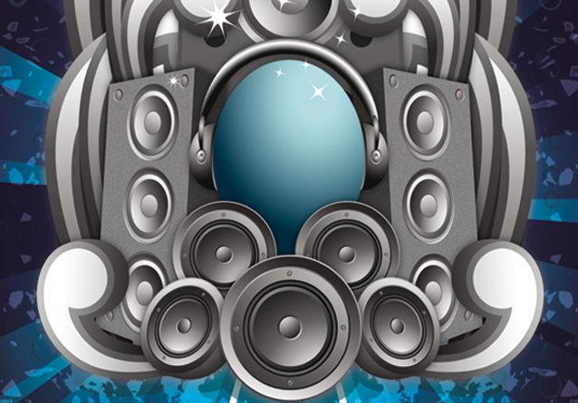 Modele Carte De Visite Gratuite DJ Blue