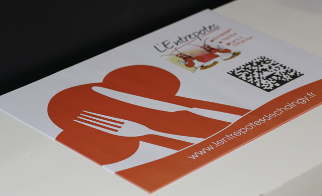Impression de sets de table de restaurant l 39 entrepotes easyflyer carte de visite Set de table a personnaliser
