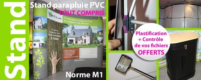 Impression de stand parapluie plastification offerte for Stand parapluie pas cher