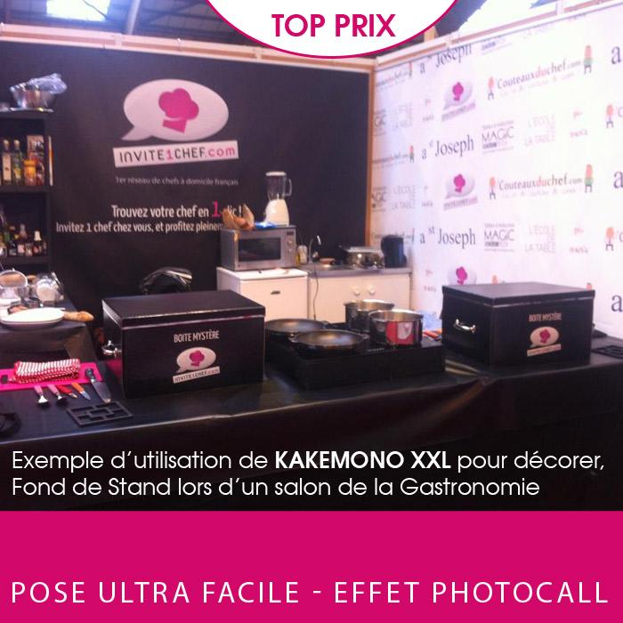 Exemple de stand d co 100 kak mono xxl photocall for Salon imprimerie