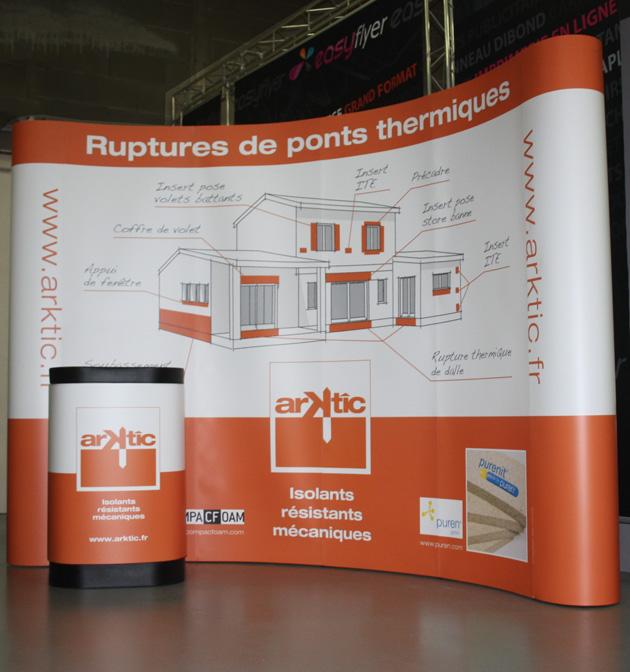 Impression stand parapluie pvc 4x3 plastification mat for Stand parapluie prix