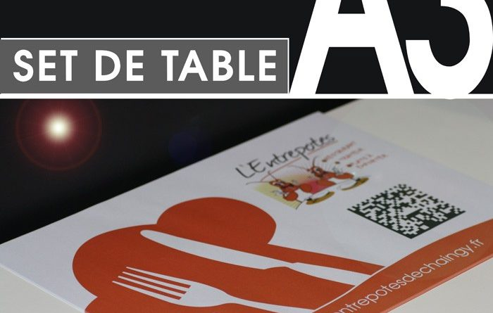 Le set de table pour restaurant