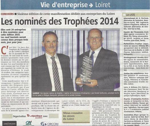 Easyflyer aux troph es de l 39 entreprise du loiret 2014 for Liste entreprise loiret