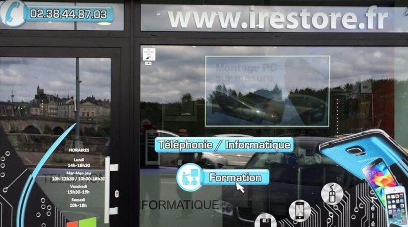 autocollant pour vitrine