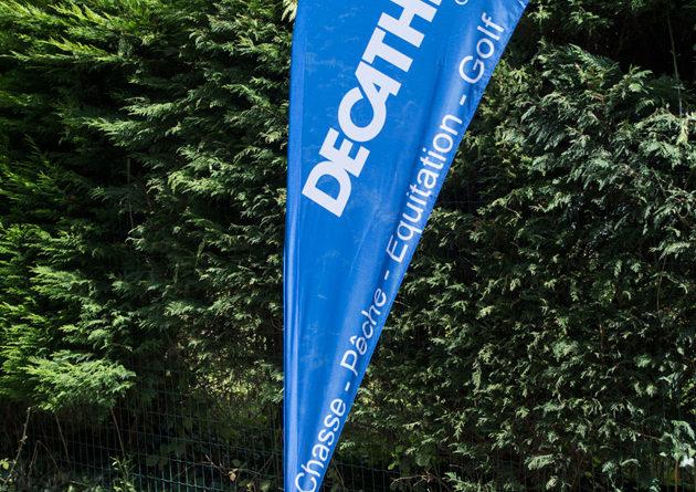 Impression de drapeau pour decathlon