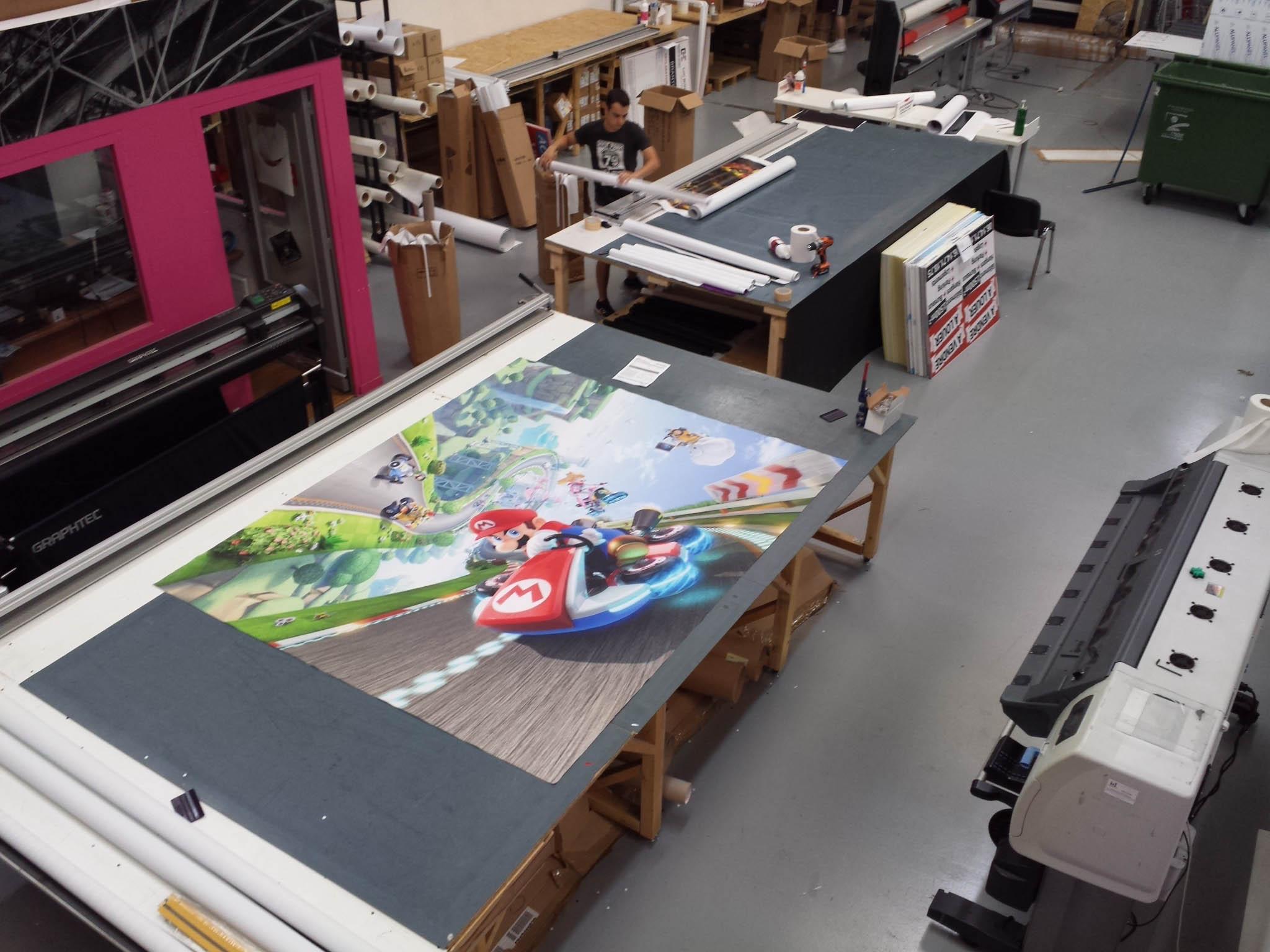Impression papier peint Mario Bros