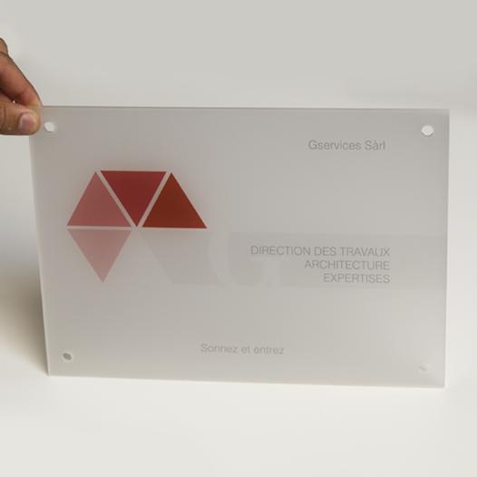 Plaque en verre acrylique