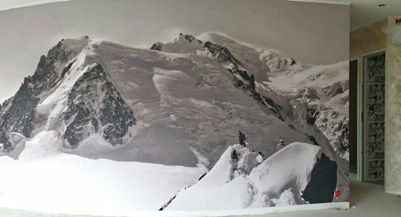 Papier peint paysage de montagne