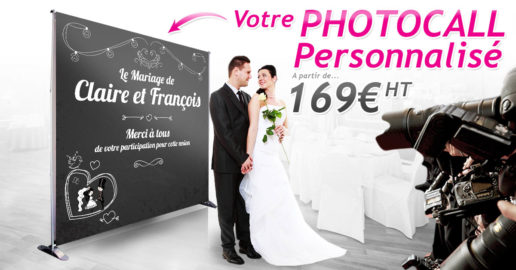 Photocall de mariage
