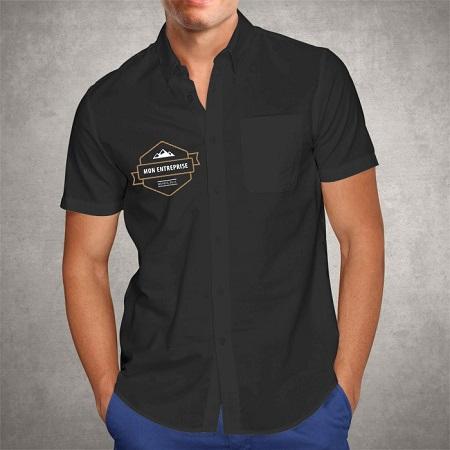 Impression chemisette premium poitrine droit