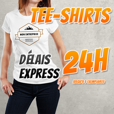 Impression tee shirt express 24h chrono