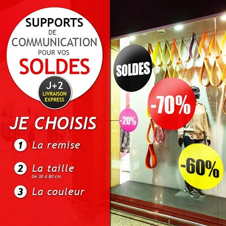 Supports de communication soldes