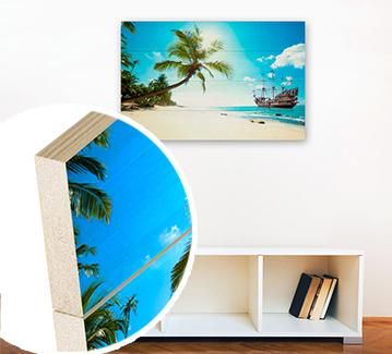impression tableau photo sur bois personnalis. Black Bedroom Furniture Sets. Home Design Ideas