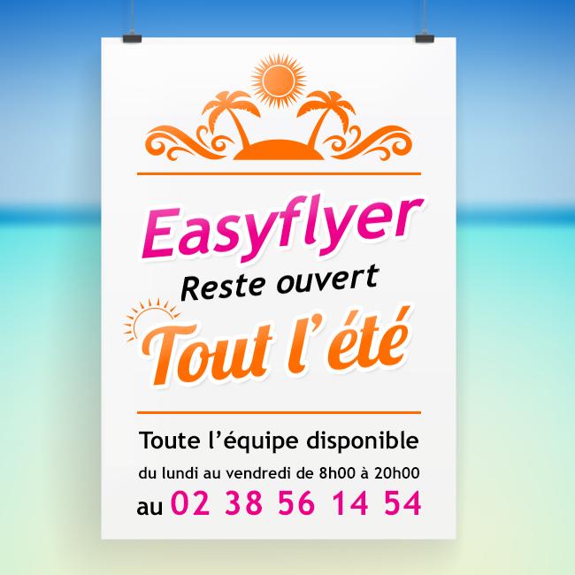Easyflyer, l'imprimerie en ligne reste ouvert tout l'été