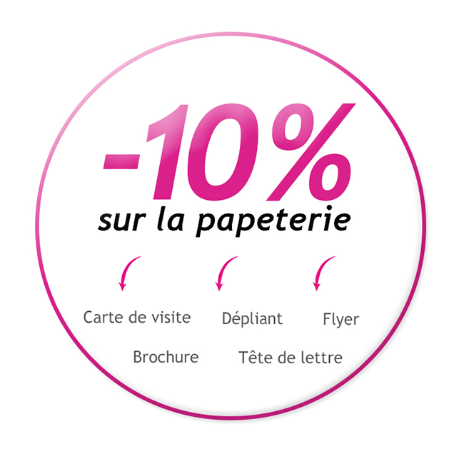 Offre promotionnelle : -10% sur la papeterie