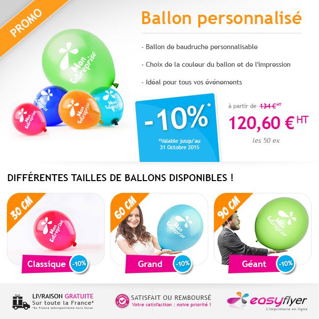 Ballons de baudruche personnalisés : promotion