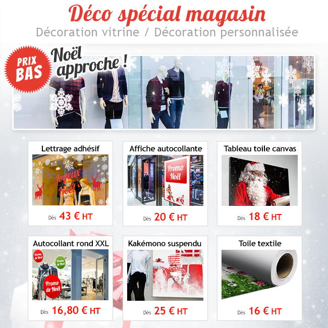 Stickers vitrine pour magasin