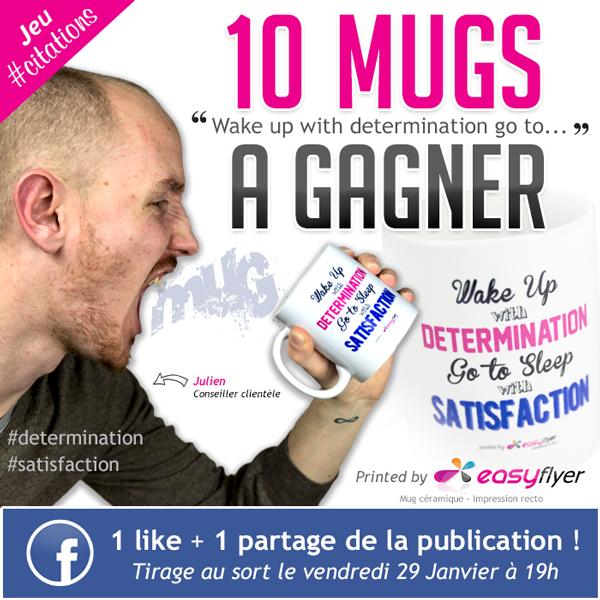 Mug personnalisé : jeu concours Facebook