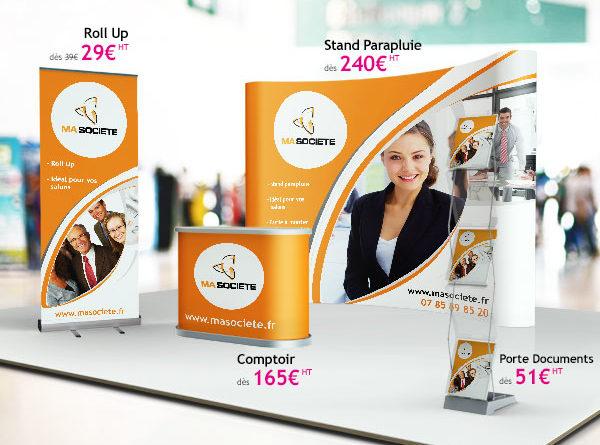 Plv grand format pour r ussir son salon professionnel for Prix stand salon