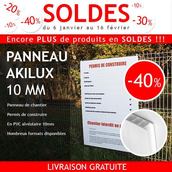Panneau Akilux 10mm : soldes -40%