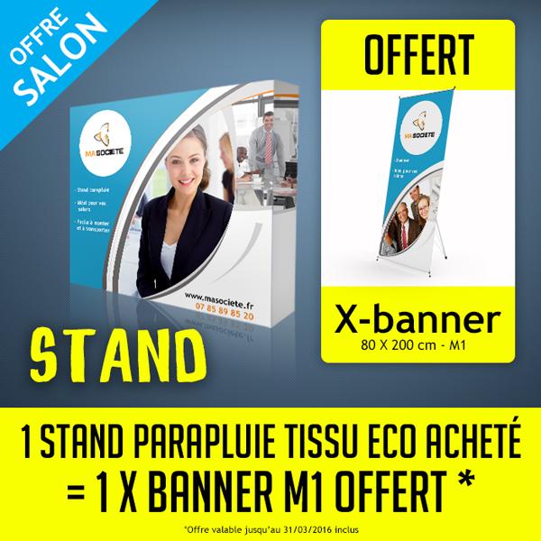 Salon pro : impression stand + un x-banner offert