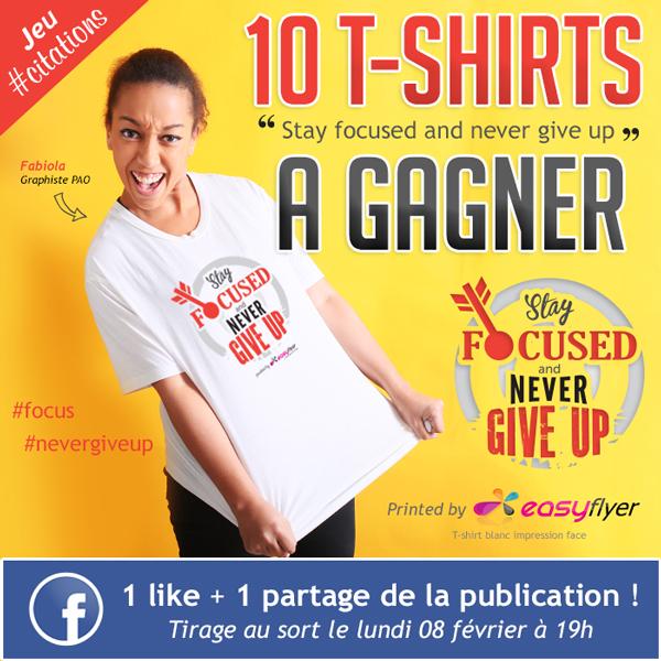 T-shirt personnalisé : jeu concours facebook