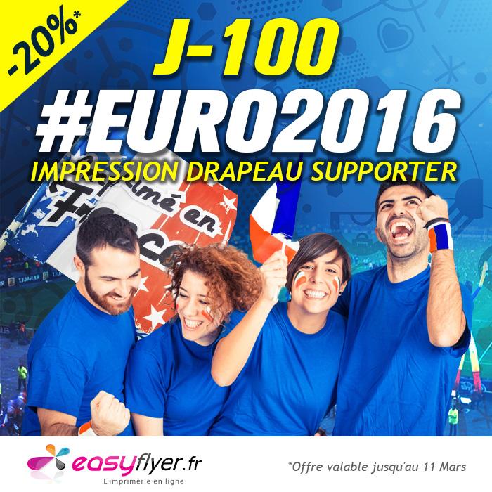 Impression drapeau surpporter euro 2016 : promotion -20%