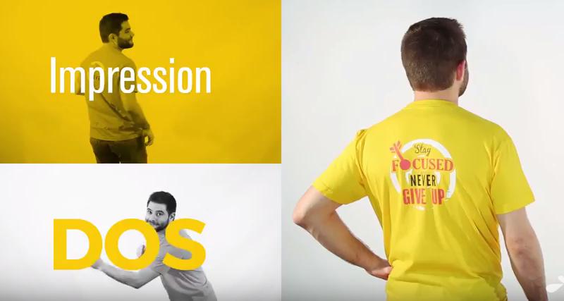 achats vente en ligne belle couleur T-shirt personnalisé pour entreprise : découvrez la vidéo !