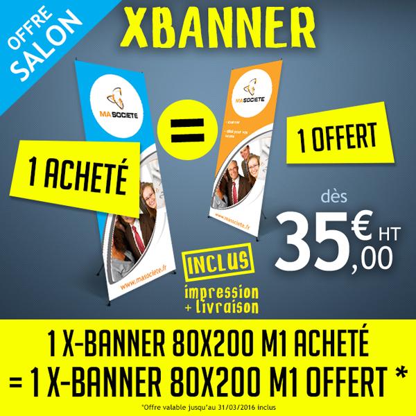Impression x-banner : offre salon professionnel