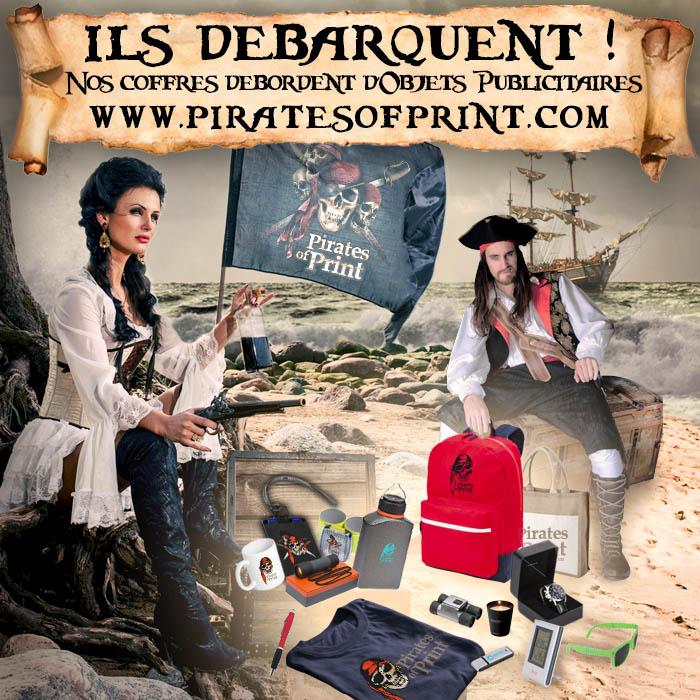 Objets publicitaires disponibles sur Pirates of Print