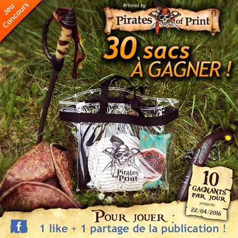 Jeu concours sac transparent pirates of print