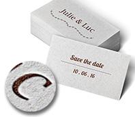 Carton d'invitation pour mariage