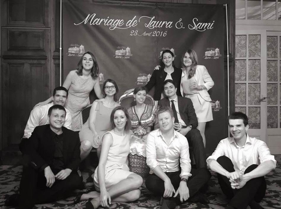 Photocall pour un mariage, réalisé par Easyflyer
