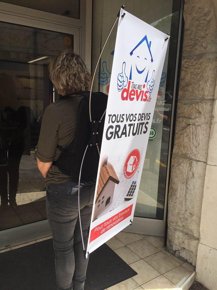 Sac à dos X banner pour street marketing