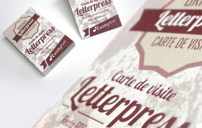 Flyer en relief : le letterpress