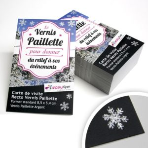 Flyer vernis pailleté