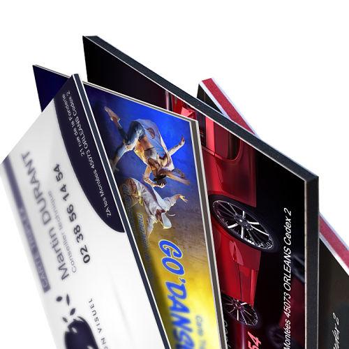 Cartes de visite triplex ultraépaisses et designs