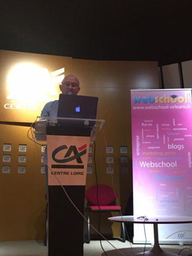 Olivier Andrieu à la Webschool d'Orléans
