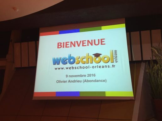 Conférence Webschool Orléans - Olivier Andrieu