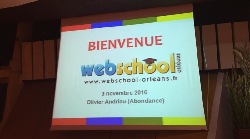 bienvenue à la conference webschool d'orleans