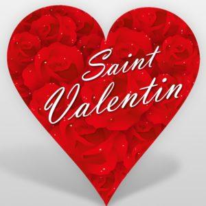 Flyer en forme de coeur pour la saint valentin