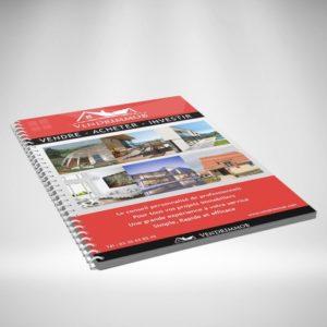 Brochure à spirales verticale