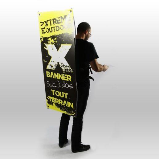 Utilisation sac à dos X-Banner