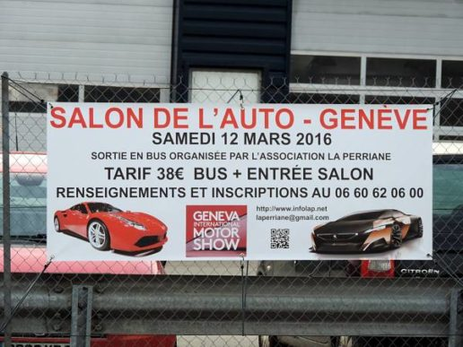 Bâche promotionnelle pour opération marketing