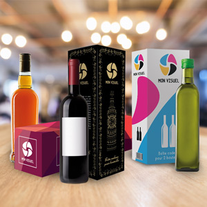 Boîtes cadeaux carton bouteille personnalisée nouveauté emballage