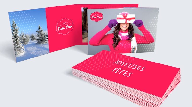 carte vœux double personnaliser votre carte d'entreprise