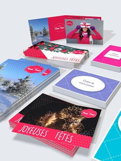Cartes vœux multi-formats pour personnaliser votre carte de vœux professionnelle