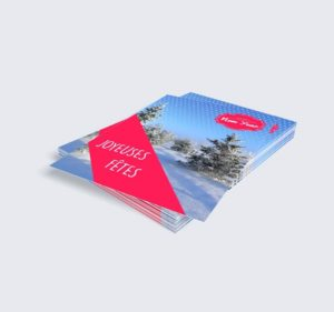 carte vœux verticale pour personnalisation carte professionnelle