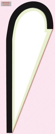 Gabarit drapeau voile forme goutte 3m