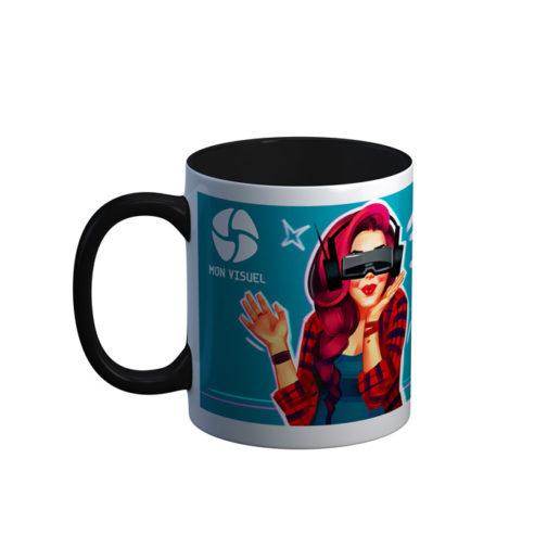 mug photo panoramique avec couleur intérieure noire